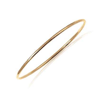 Bracelet jonc plaqué or fil rond - 2 MM - 66 MM - La Petite Française