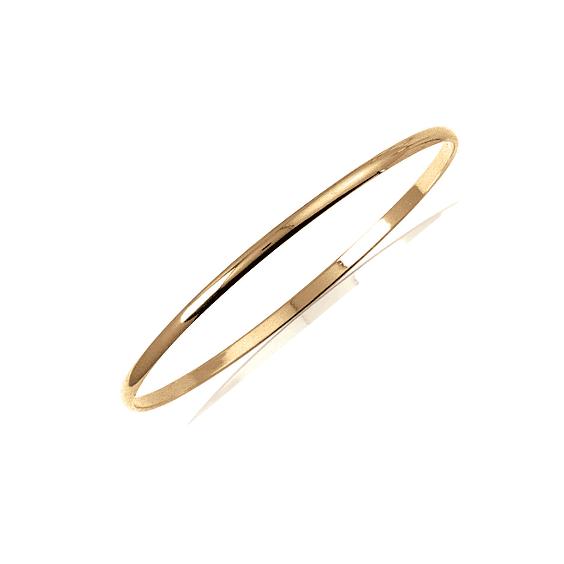 Bracelet jonc plaqué or 1/2 fil rond - 3 MM - 66 MM - La Petite Française