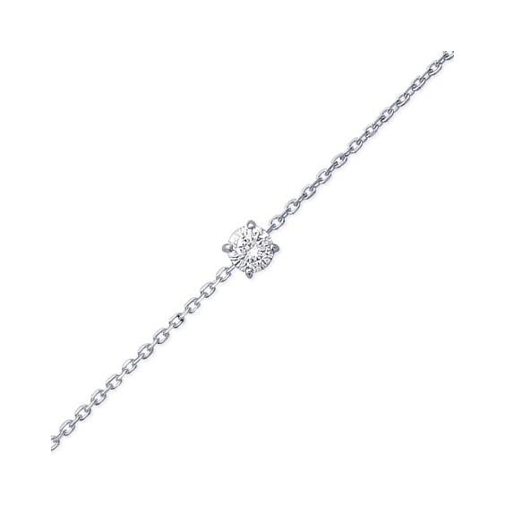 Bracelet argent et zirconium - La Petite Française
