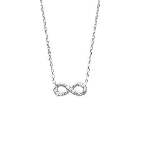 Collier infini argent et zirconiums  - La Petite Française