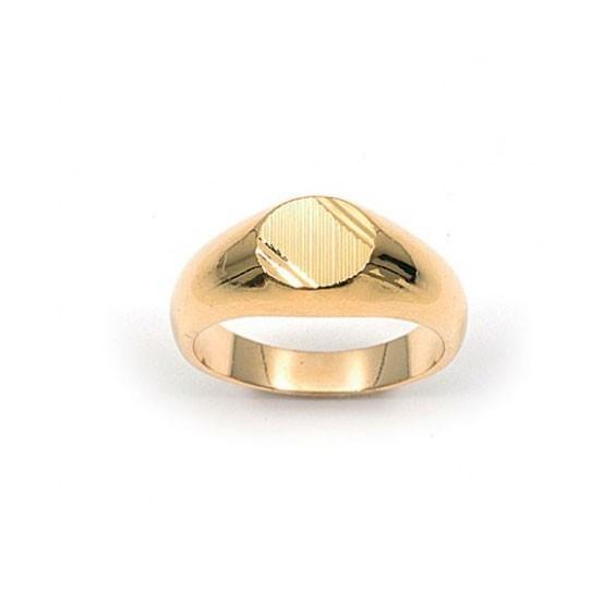 Chevalière Romain plaqué or