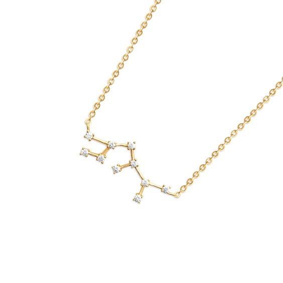 Collier constellation sagittaire plaqué or et zirconiums - La Petite Française