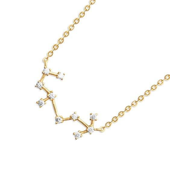 Collier constellation scorpion plaqué or et zirconiums - La Petite Française