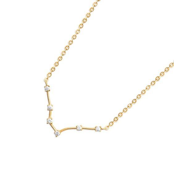 Collier constellation poissons plaqué or et zirconiums - La Petite Française