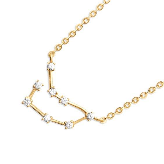 Collier constellation capricorne plaqué or et zirconiums - La Petite Française