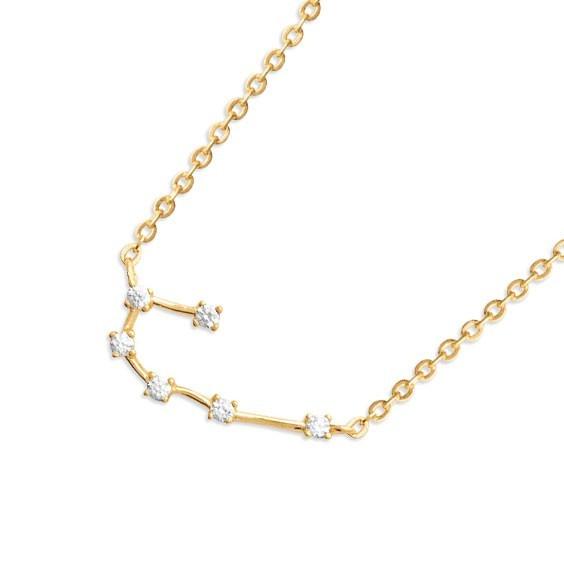 Collier constellation cancer plaqué or et zirconiums - La Petite Française