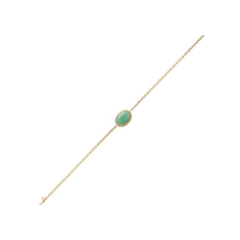 Bracelet Sophie plaqué or et pierre Aventurine