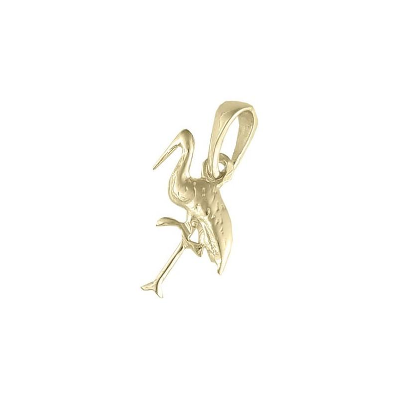 Pendentif Cigogne Or 18 carats jaune - La Petite Française