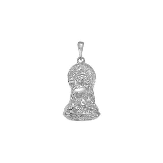 Pendentif Bouddha Or 18 carats gris - La Petite Française