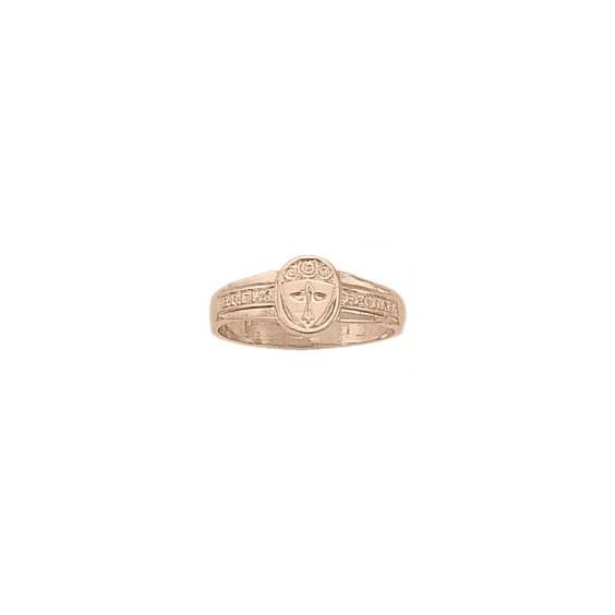 Bague hermine Or 18 carats rose - 9 X 7 MM - La Petite Française