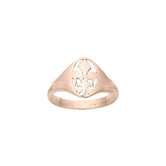Bague fleur de Lys Or 18 carats rose - La Petite Française