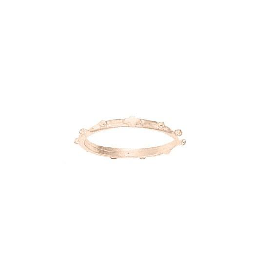 Anneau dizainier Or 18 carats rose - 2 MM - La Petite Française