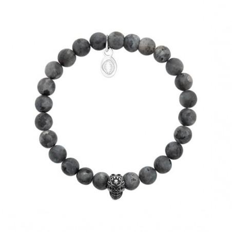 Bracelet perles pierre Labradorite et crâne -  La Petite Française