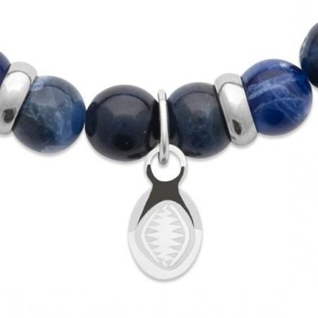 Bracelet perles pierre Jaspe bleu -  La Petite Française
