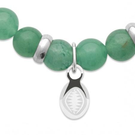 Bracelet perles pierre Quartz vert -  La Petite Française