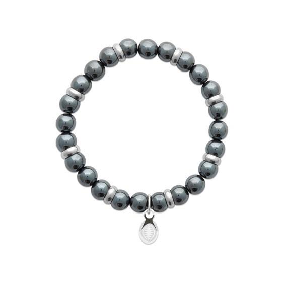 Bracelet perles pierre Hématite -  La Petite Française