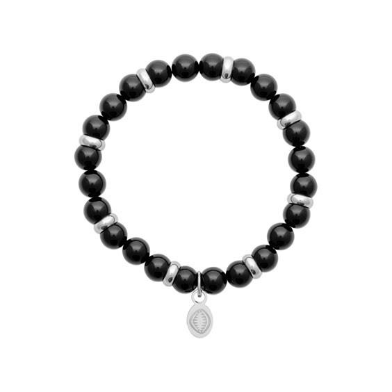Bracelet perles pierre Agate noire -  La Petite Française