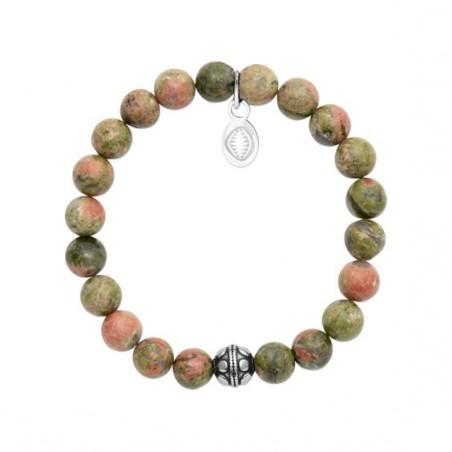 Bracelet perles pierre Unakite -  La Petite Française