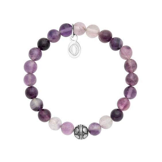 Bracelet perles pierre Fluorite -  La Petite Française