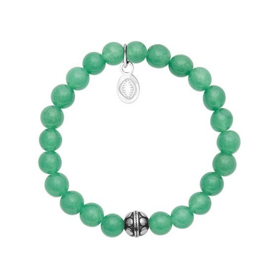 Bracelet perles pierre Aventurine verte -  La Petite Française