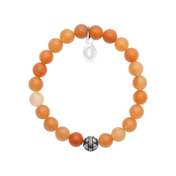Bracelet perles pierre Aventurine orange -  La Petite Française