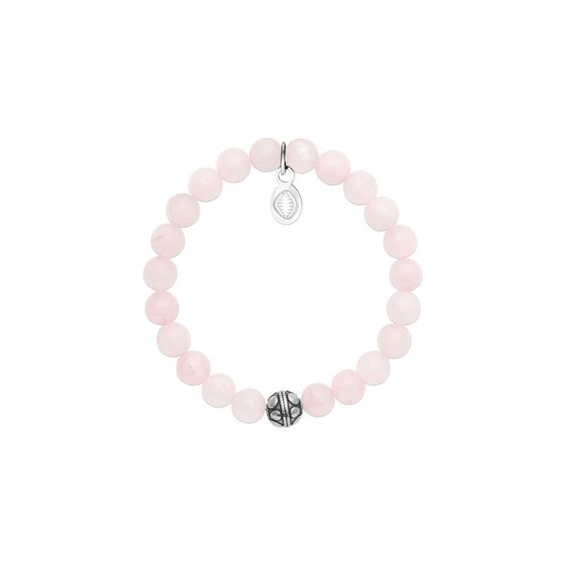 Bracelet perles pierre Quartz rose -  La Petite Française