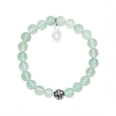 Bracelet perles pierre Jade vert -  La Petite Française