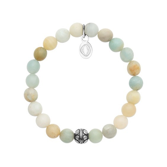 Bracelet perles pierre Amazonite -  La Petite Française