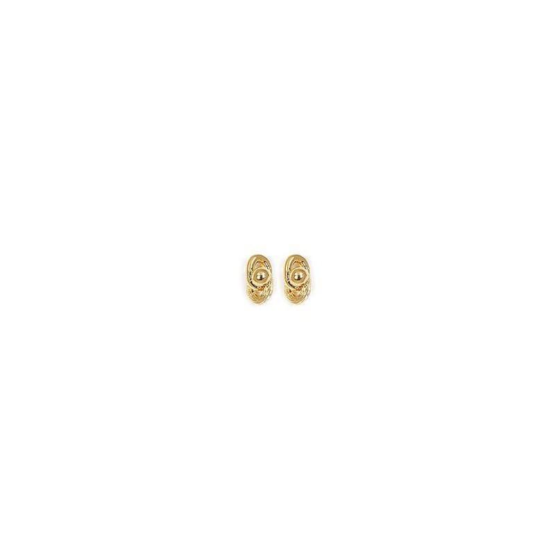 Boucles d'oreilles Méloée plaqué or