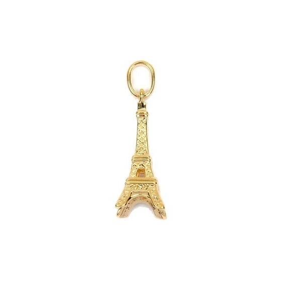 Pendentif tour Eiffel plaqué or - La Petite Française