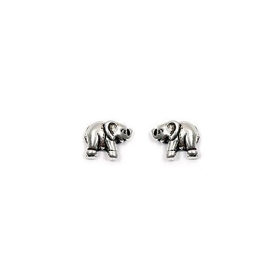 Boucles d'oreilles éléphants argent - La Petite Française