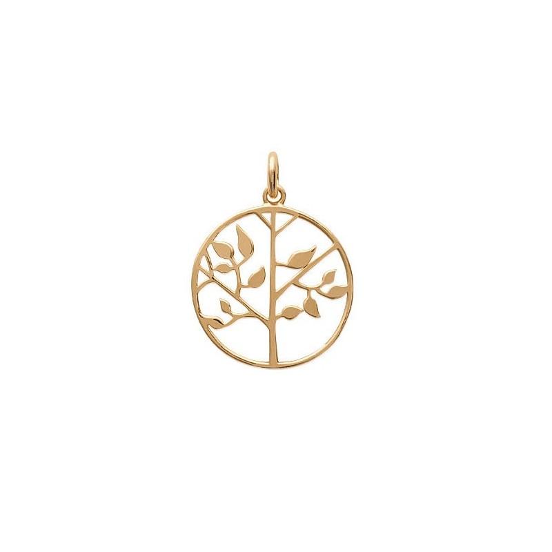 Pendentif arbre de vie plaqué or - La Petite Française