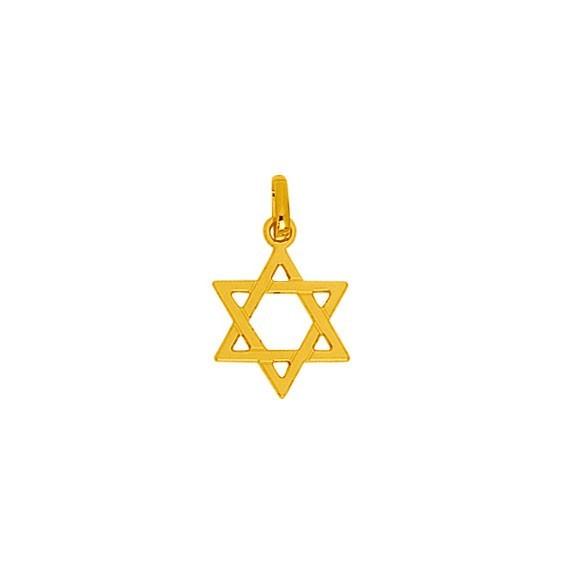 Pendentif Etoile de David Or 18 carats jaune - La Petite Française