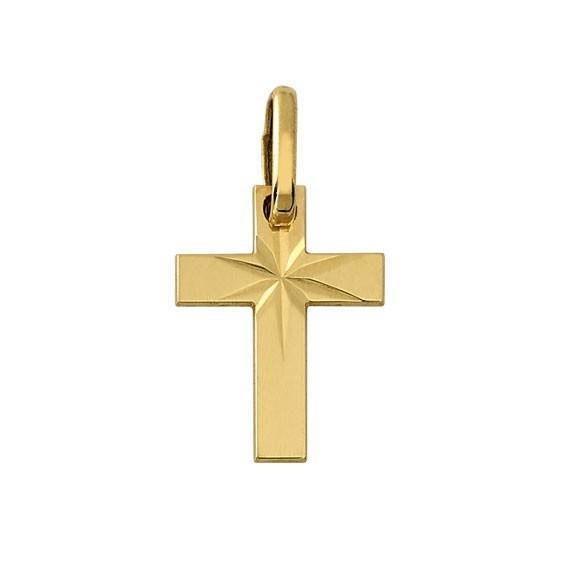 Croix diamantée Or 18 carats jaune - La Petite Française