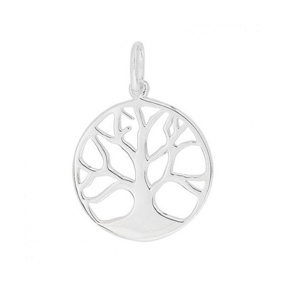 Pendentif arbre de vie avec racines argent - La Petite Française