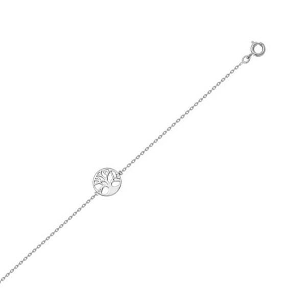 Bracelet arbre de vie avec racines argent - La Petite Française