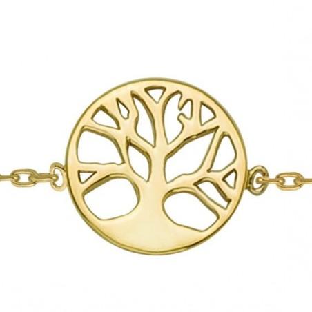 Chaine de cheville arbre de vie avec racines plaqué or - La Petite Française