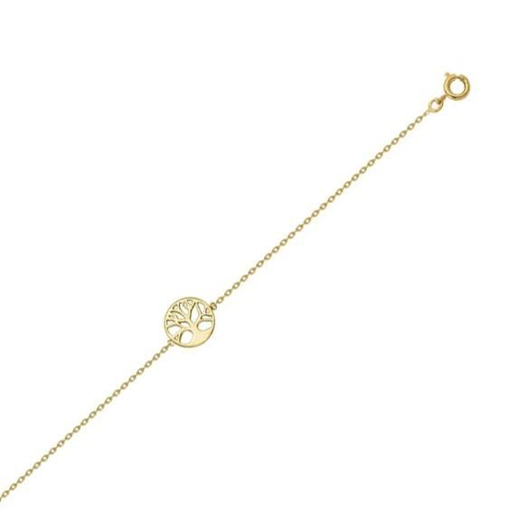 Bracelet arbre de vie avec racines plaqué or - La Petite Française