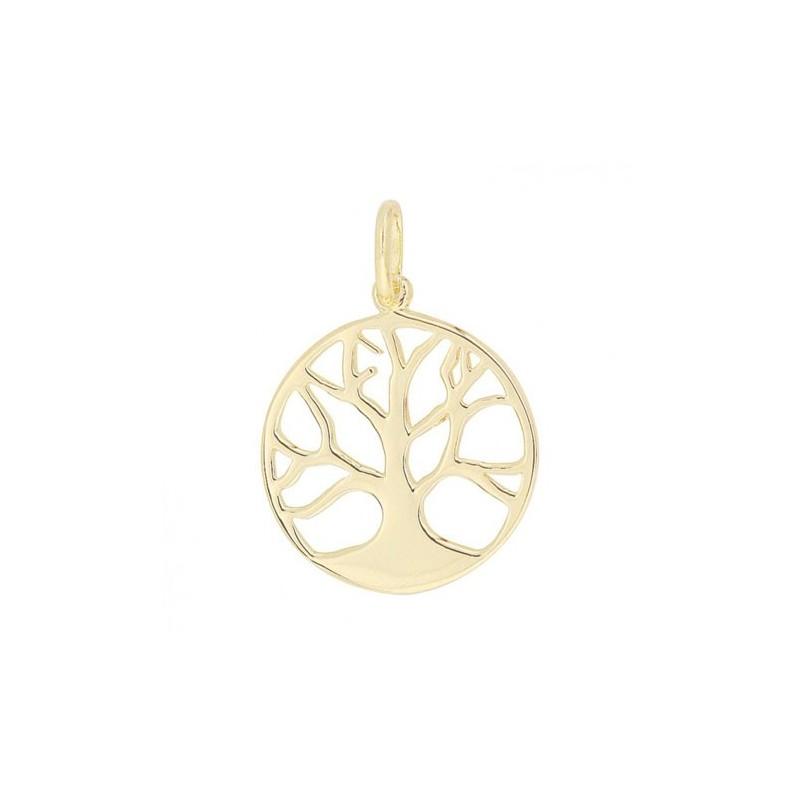 Pendentif arbre de vie avec racines plaqué or - La Petite Française