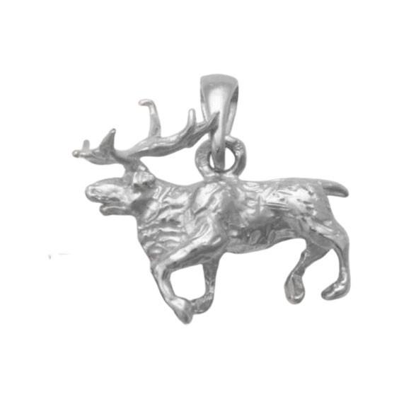 Pendentif renne argent - 18 MM -  la Petite Française