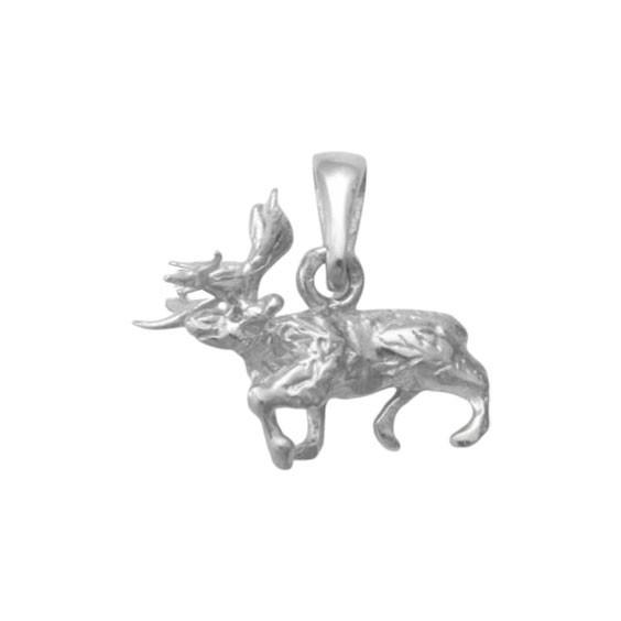 Pendentif renne argent - 16 MM -  la Petite Française
