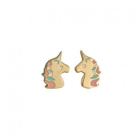 Boucles d'oreilles licorne plaqué or -  la Petite Française