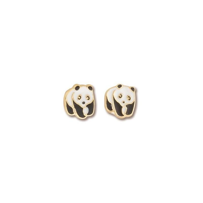 Boucles d'oreilles panda plaqué or -  la Petite Française