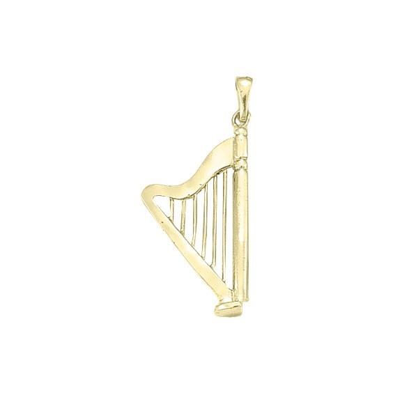 Pendentif harpe plaqué or GM -  la Petite Française