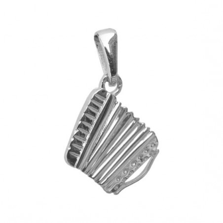 Pendentif accordéon argent MM -  la Petite Française