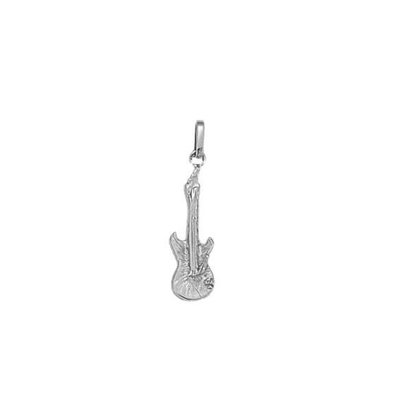 Pendentif guitare électrique argent PM -  la Petite Française