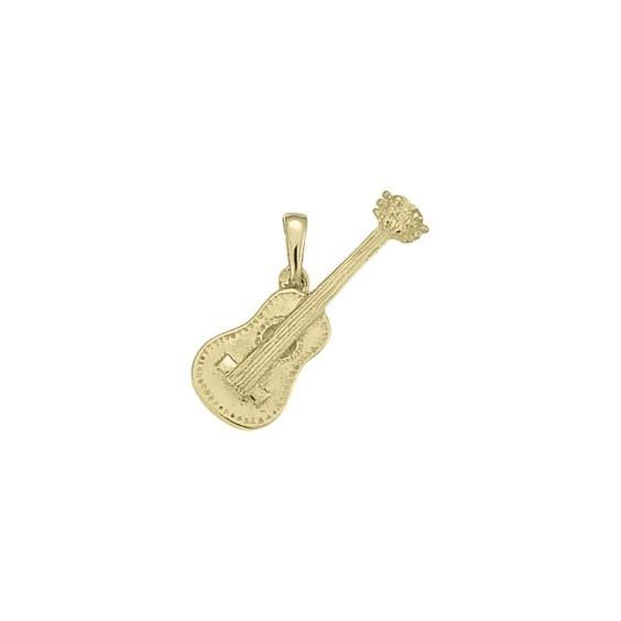 Pendentif guitare plaqué or -  la Petite Française