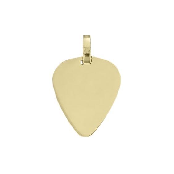 Pendentif médiator Or 9 carats jaune -  la Petite Française