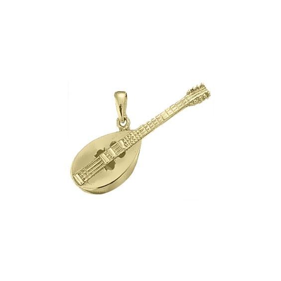 Pendentif mandoline plaqué or -  la Petite Française