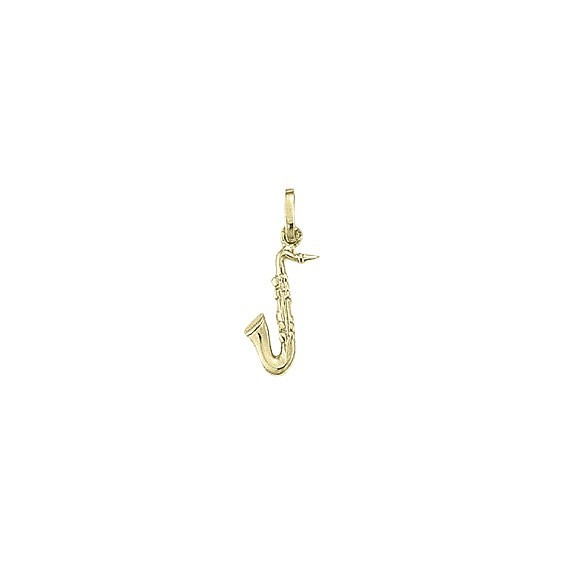 Pendentif saxophone plaqué Or -  la Petite Française